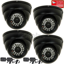 4 Security Camera 700TVL w/ SONY Effio CCD IR Night Outdoor Wide Angle Power cLq