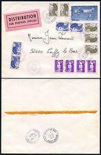 Francia especial Mensajero Etiqueta 1990 Multi franqueo
