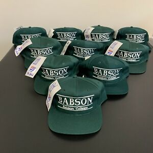 Babson College Beavers The Game Split Bar Snapback Hat Lot of 10 NWT New Vintage