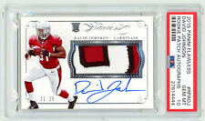 2015 Flawless DAVID JOHNSON 3 Color Nameplate Patch RC Autograph 21/25 PSA 10!