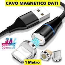 CAVO USB TYPE C MAGNETICO LED MICRO IOS IPHONE SAMSUNG HUAWEI RICARICA DATI SINC