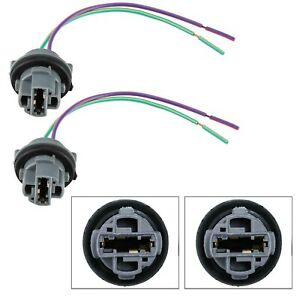 Universal Pigtail Wire Female Socket 7440 Two Harness Front Turn Signal Light