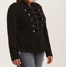 4ac83b12045 Torrid Black Embellished Zip Front Military Jacket 0x 0 Large 12