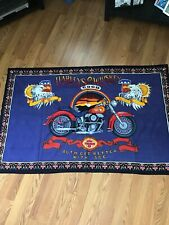 Harleys Davidson And Whiskey - Bikers Flag Rug Material 56x36