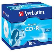 10 Verbatim Rohlinge CD-R Audio 80 Minuten Musik Jewelcase