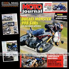 MOTO JOURNAL N°1700 KAWASAKI ER-6F ★ SUZUKI 650 BANDIT S ★ DUCATI MONSTER S4RS