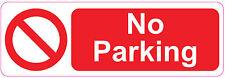 NO PARKING Sign Sticker Vinyl Restricted Parking Area 300mm x 100mm