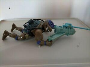 Vintage TMNT Ninja Turtles Figure Sewer Swimming Donatello 1989 complete
