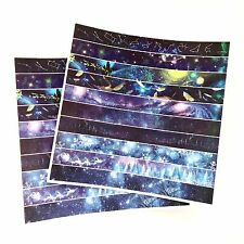 Galaxy Washi Stickers Planner Labels Blue Starry Night