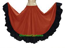 Cotton Gypsy Designer Flamenco Skirt 12 Yard BellyDance Tribal Ethenic Jupe Boho