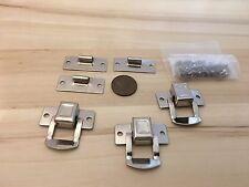 3 Crome square silver hasp small box hardware lock latch latches catches C24
