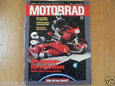 MOTORRAD 1989-17,SIDE-BIKE COMANCHE,CAGIVA FRECCIA C12R,APRILIA TUAREG 600 WIND