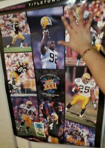 Vintage Original GREEN BAY PACKERS SUPER BOWL XXXI CHAMPS (1997) Wall Poster