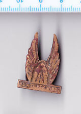 Vintage BSA SILVER WINGS motorcycle buttonhole lapel badge Birmingham Medal Co.