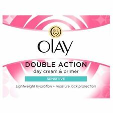 Olay Double Action Moisturiser Day Sensitive Cream And Primer Classic Care 50ml