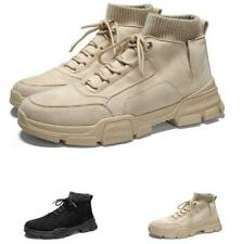 Retro Mens High Top Desert Ankle Boots Shoes Outdoor Hiking Sports Lace up New L