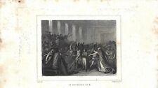Stampa antica RIVOLUZIONE FRANCESE 1799 NAPOLEONE CONSOLE 1839 Antique Print