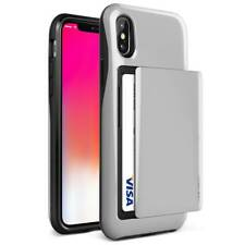 VRS Design Damda Glide Wallet Case for iPhone X - Satin Silver