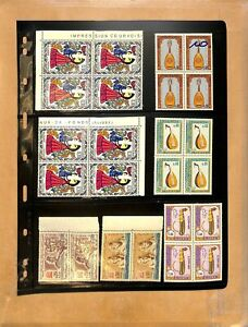 [OP2869] Algeria lot of stamps on 10 pages