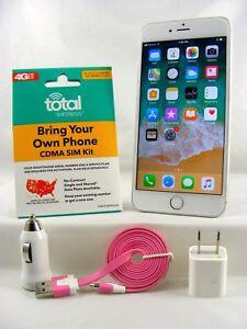 Apple iPhone 6 Plus - 64GB Silver ( Total Wireless 4G LTE Nano SIM Card )