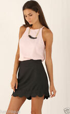 A-Line Machine Washable Mini Solid Skirts for Women