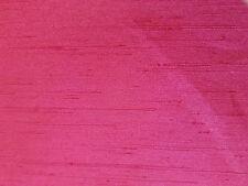 """Dark Pink Polyester Shantung dupioni silk Fabric 2 yd x 44"""" wide"""