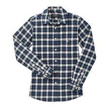 FILSON Alaskan Guide Shirt Dark Navy Cream Plaid Checked Cotton Flannel NEW L