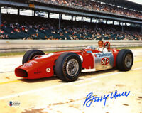 BOBBY UNSER SIGNED AUTOGRAPHED 8x10 PHOTO CELEBRATED DRIVER RARE BECKETT BAS