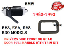 Front or Rear Drivers Side Inner Door Pull Handle With Trim Cover Set For BMW