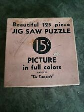 Vintage 125 pc. Jigsaw Puzzle The Stampede