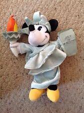 "Disney Minnie Mouse Statue of Liberty 9"" Beanbag Plush Animal. Slight Use."