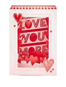 """Hallmark Paper wonder Valentine's Day Card Pop Up Card """"Love You More"""""""