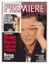 Revue magazine du cinéma PREMIERE #176 11/1991 MICKEY ROURKE