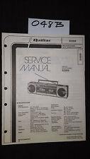 Quasar GX3656 service manual stereo cassette player boombox original repair