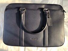 COACH MEN -NAVY-Leather Slim Bag NWT $595