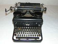 Vintage Antique late 1930's Black Royal KHM Touch Control Working Typewriter