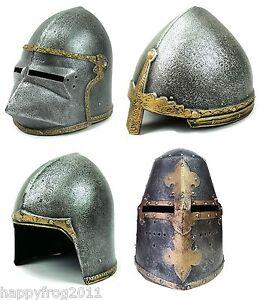 Medieval Knight Helmet Fancy Dress Shield Accesorie Play Knight Stage Lepianka