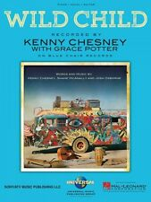Wild Child Sheet Music Piano Vocal Kenny Chesney NEW 000149265