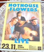 HOTHOUSE FLOWERS 1988 tour poster 33 x 23  original
