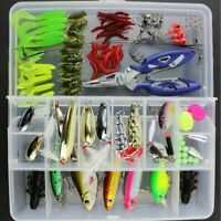 101Pcs Fishing Lure Kit Fish Hooks Fishing Lures Bait Tackle Box With Pliers