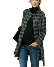 67430141a935c ISABELLA OLIVER Women's MEREWOOD WRAP Black/White Check MATERNITY COAT 4  (US ...