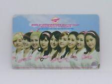 Girls Generation World Tour - Girl & Peace in bangkok - Ticket Card SNSD kpop