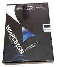 New WinPCSIGN 2014 Pro for Vinyl Cutter sign/decal making w/ auto vectorization