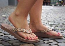 Flache Damen-Sandalen & -Badeschuhe-Zehentrenner Gizeh