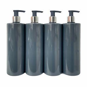 BULK Grey PET Plastic Bottle Chrome Silver Pump Mrs Hinch 500ml Dispenser