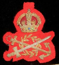 CORPS OF COMMISSIONAIRES KING'S CROWN BULLION BADGE