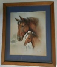 Thoroughbred Race Horse Framed Print by Ruane Manning- Unbridled Affection