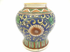 Antique Old Glazed China Porcelain Ginger Jar Lamp Part Chinese Decorative