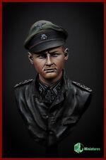 MJ Miniatures German Tiger Ace Michael Wittmann WW2 1/10th Bust Unpainted kit