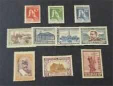 nystamps Argentina Stamp # 406-415 Mint Og H Speicmen